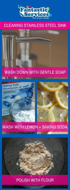Domestic Cleaning Services in London & the UK Domestic Cleaning Services, Stainless Steel Sinks, Clean House, Baking Soda, Make It Yourself, Food, Meal, Stainless Steel Kitchen Sinks, Eten