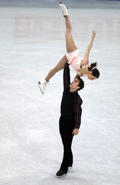 Jessica Dube and Bryce Davison of Canada are seen in action during their Pairs Free Skate during the ISU World Figure Skating Championships at the Scandinavium Arena on March 2008 in Gothenburg,. Get premium, high resolution news photos at Getty Images Pairs Figure Skating, Figure Ice Skates, Ice Skating Pictures, Tessa Virtue Scott Moir, Draw The Squad, World Figure Skating Championships, Ice Skaters, Ice Dance, Sport