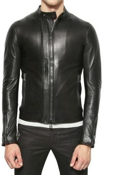 Belstaff Nappa Leather Jacket in Black for Men - Lyst