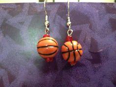 Basketball Earrings by SundayEvenings on Etsy, $3.00