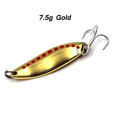 5Pc 4.5Cm-5.5Cm Spinner Bait Metal Lures Musky Trout Bait Hooks Casting Spoon For Tackle