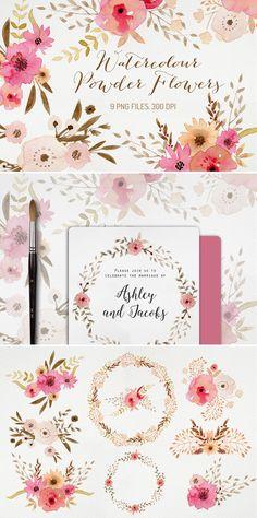 Watercolour Powder Flowers Download