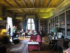 Churchill's library at Warwick Castle.  Not my taste, exactly, but the fact that it was His.