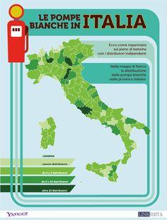 Le Pompe Bianche in Italia regione per regione