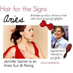 """""""Hair for the Signs Aries"""" by expressingyourtruth on Polyvore"""