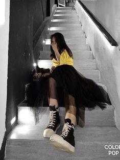 Girl Photo Poses, Girl Photos, Cool Instagram Pictures, Girl Outfits, Fashion Outfits, Korean Street Fashion, Stella Mccartney Elyse, Korean Girl, Bff