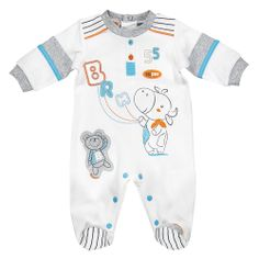 Brums - Tutina bianca con mucchina - Outletbambini.it