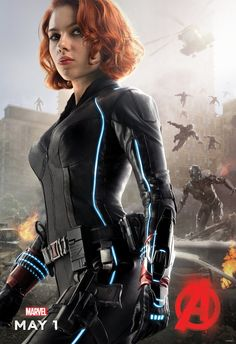 Black Widow character poster. Avengers: Age of Ultron.