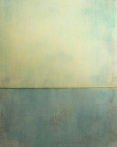 """arpeggia: """" Christian Hetzel - Blue Silence, 2012, acrylic, string on canvas """""""