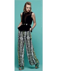Minty Meets Munt Patra Palazzo Pants - Shorts & Pants - Clothing - Pair it with a black holster bodice for an evening look or with a black peplum top for chic officewear.