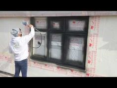HPS painting a PVC window - YouTube