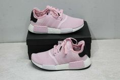 low priced 7c1a1 b4b28 Adidas Women s 6.5 NMD R1 Sneaker Clear Pink Cloud White Core Black B37648  Negro · Negro Blanco ...