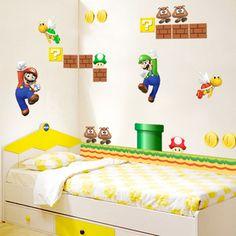 Super Mario Game Kids Bedroom Wallsticker Decal - $54.00