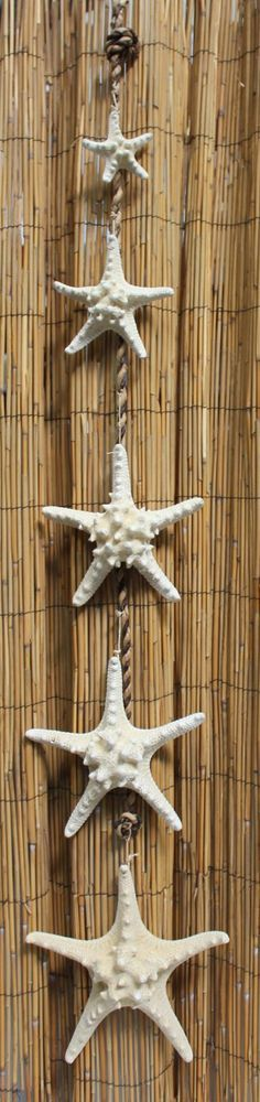 Cascading White Bumpy Starfish Garland Strand - Beach Chic Cottage Decor  --add some red ribbon for Christmas!!  #BarbsBeachHouseDecor