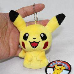 Pokemon Pikachu Plush Soft toy Stuffed Animal Doll Keychain Pendant 10cm #Unbranded
