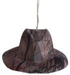 "7"" Leaf Camouflage Hat Christmas Ornament Set of 3"