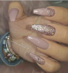 53 chic natural gel nails design ideas for sarong nails - .- 53 Chic Natural Gel Nails Design Ideas for Sarong Nails – # for - Aycrlic Nails, Pink Nails, Cute Nails, Pretty Nails, Coffin Nails, Beige Nails, Manicures, Pink Coffin, Coffin Acrylics