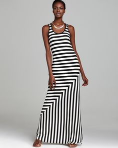 Quotation: Red Haute Dress - Striped Maxi