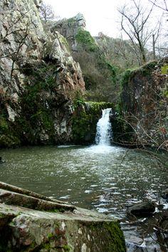"""Cascade des Pommiers à St-Jacques-de-Thouars et Ste-Radegonde-des-Pommiers. Appelée aussi """"Cascade de la Gouraudière"""", la Cascade de Pommiers est un site naturel dont l'eau provient du Ruisseau du Pressoir, affluent du Thouet. On peut y accéder depuis le centre de Thouars en traversant la Chaussée des Pommiers qui franchit le Thouet et en empruntant un sentier longeant le Ruisseau du Pressoir et qui mène à cette chute d'eau. Deux-Sèvres 79"""
