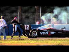 Video: Watch Will Power extinguish his own engine fire