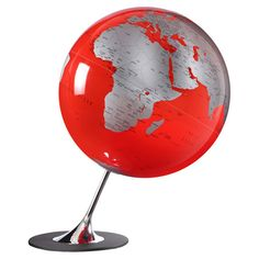 Leaning globe decor with a chrome-finished metal stand.   Product: GlobeConstruction Material: Metal and polystyrene...