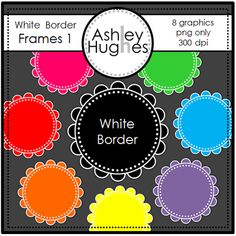 FREE White Border Frames 1: Graphics/Clipart for Commercial Use
