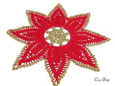 Christmas Doilies Christmas Gift Round Doily Red by CreArtebyPatty
