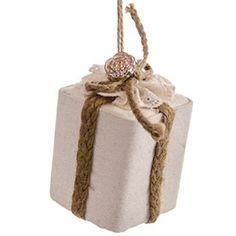Square Gift Box Ornament http://shop.crackerbarrel.com/Square-Gift-Box-Ornament/dp/B00NB5J0ZM