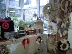 Bonsai corner, extra virgin olive oil gifts and christmas wreaths, by Herber Plants Designs.