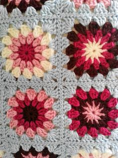 Lavender and Wild Rose: Starburst cushion cover