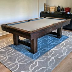 8 Foot Elkhorn Rustic Pool Table With Steel Grey Cloth Delivered And  Installed In Irvine.
