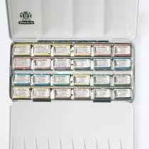 Schmincke Horadam® Aquarell Kompaktmetallkasten 24 x 1/1 Näpfchen