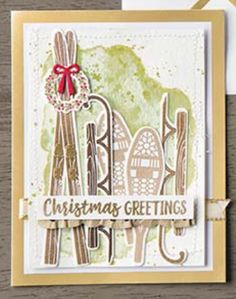 Stampin' Up! Christmas Cards 2018, Stampin Up Christmas, Christmas Greetings, Holiday Cards, Alpine Adventure, Stamping Up Cards, All Holidays, Winter Cards, Making Ideas