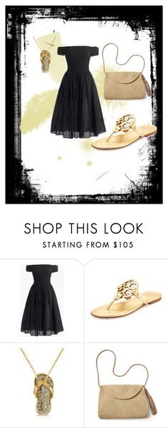 """""""Gold Flip Flop"""" by litte-ballerina on Polyvore featuring J.Crew, Tory Burch, Allurez and Mar y Sol"""