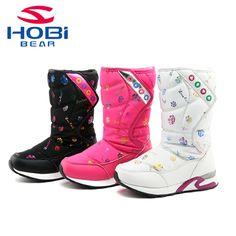 b92d71aa8 Botas de Nieve Para niños Niños Calientes Zapatillas Niñas Botas de Nieve  Niñas Niños Zapatos Impermeables Botas de Invierno Las Niñas Zapatos del  Deporte ...
