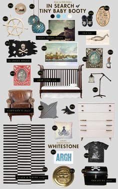 pirate baby shower inspiration/ baby room