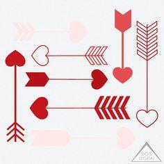 Arrow Clipart, Purple Arrows, Clipart Arrows, Blue Arrows, Digital ...