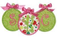 Ornament Trio Applique Design