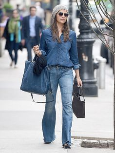 Star Tracks: Tuesday, May 17, 2016 | OUT & ABOUT | Camila Alves sports a denim shirt and jeans while in N.Y.C. on Friday.