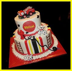 Fire truck cake for Michael by atasteofwhimsy, via Flickr