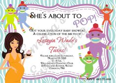 Sock Monkey Baby Shower Invitations/Announcements