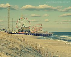 Seaside Park Boardwalk vintage style photograph by NewLeafPics, $25.00- I pinned this for Liv's big girl room!  I just can't pin to that board!