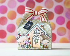 I'm back with Mama Elephant highlighting the adorable new set A Cookie Christmas.To begin I die cut this fun favor box out of some pattern paper using the Gable Box die. Christmas Cookies, Christmas Crafts, Christmas Ideas, Christmas Presents, Mama Elephant Cards, Elephant Cookies, Neat And Tangled, Gable Boxes, Scrapbook Blog