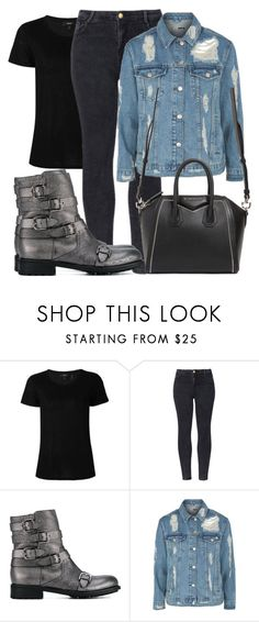 """Untitled #3866"" by beatrizvilar on Polyvore featuring Theory, WithChic, Jimmy Choo, Topshop and Givenchy"