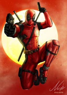 #Deadpool #Fan #Art. (Deadpool) By: Niekholest. ÅWESOMENESS!!!™