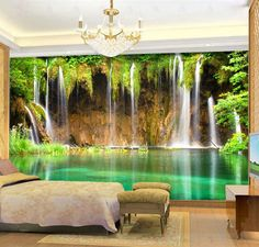 Amazing Floor Mural For Living Room, Bathroom & Bedroom Design 3d Floor Art, Floor Murals, Ceiling Murals, Wall Murals, Wall Art, 3d Wallpaper For Walls, Green Wallpaper, Photo Wallpaper, Floor Design