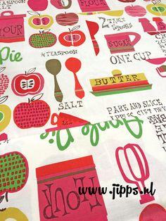 Retro stof van Alexander Henry Fabrics - In The Kitchen Online stoffen Jipps.nl #online_stoffen #stoffenwinkel #kinderstoffen