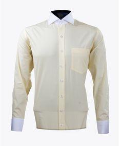 Pastel Yellow Poplin Banker's shirt