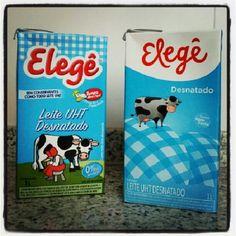 o leite Elegê está de roupinha nova !! #elege #leite #milk #marketing #embalagem