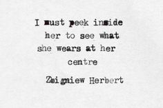 I must peek inside her to see what she wears at her centre.